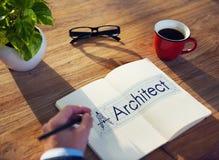 建筑师建筑学指南针建筑概念 库存图片