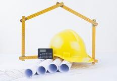 建筑师` s项目和concstructor工具 库存照片