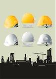 建筑帽子 免版税库存照片
