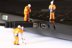 建筑式样工作者USB缆绳A 库存照片