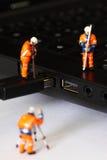 建筑式样工作者USB缆绳C 库存照片