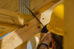 建筑承包商工作者 库存照片