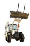 建筑推土机拖拉机挖掘机 免版税库存照片