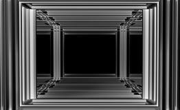 建筑摘要3d例证 免版税库存图片