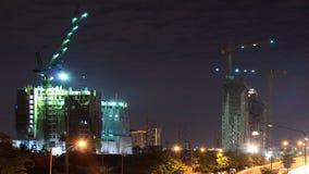 建筑摩天大楼在城市 股票视频