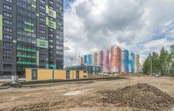 建筑新的大厦在莫斯科 免版税库存照片