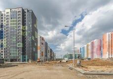 建筑新的大厦在莫斯科 免版税库存图片