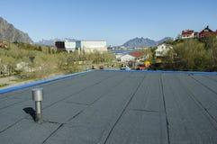 建筑新的屋顶 免版税库存照片