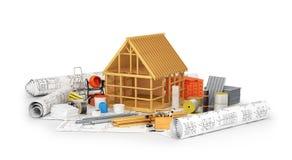 建筑材料 库存例证