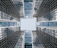 建筑构成由法人大厦做成 抽象背景商业 免版税库存图片