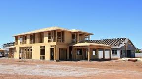 建筑构成的家庭新的住宅站点 图库摄影
