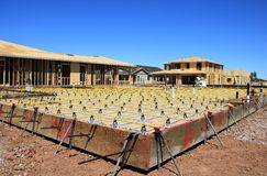 建筑构成的家庭新的住宅站点 免版税库存图片