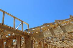 建筑构成的家庭新的住宅站点 免版税库存照片