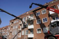建筑查出的好成套装备工作者 库存图片