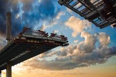 建筑桥梁横穿 免版税库存图片