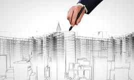 建筑模型 库存照片