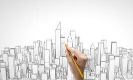 建筑模型 库存图片
