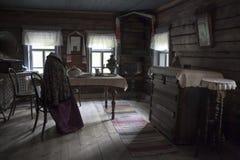 建筑民族志学的Kostroma和风景博物馆储备Kostromskaya Sloboda 传统俄国内部ho 免版税库存照片