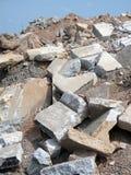 建筑瓦砾 库存图片