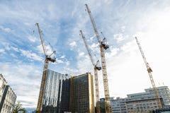 建筑用起重机在柏林,德国 免版税图库摄影