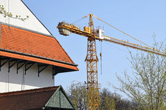 建筑用起重机站点塔 库存图片