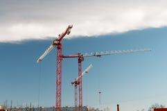 建筑用起重机站点 库存图片