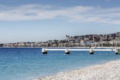 建筑由混凝土制成由海滩 库存照片