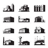 建筑的各种各样的类型 库存照片