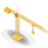建筑的等量工业起重机 库存照片