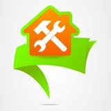 建筑磁带尖修理家庭企业 免版税库存图片