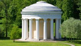 建筑纪念碑在市Pavlovsk,俄罗斯 免版税图库摄影