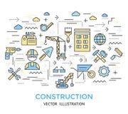 建筑线工作背景 向量例证