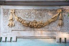 建筑装饰的元素在波摩莱,保加利亚 免版税图库摄影