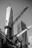 建筑视域起重机Westfield世界贸易中心曼哈顿 库存照片