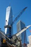 建筑视域起重机Westfield世界贸易中心曼哈顿 库存图片
