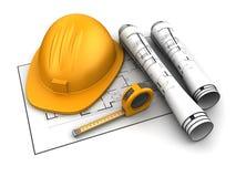 建筑计划 免版税图库摄影