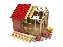 建筑详细资料门前面停车库房子视窗 皇族释放例证