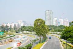筑路在城市 库存图片