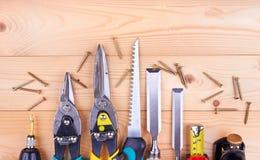 建筑锤子用工具加工视窗 库存图片