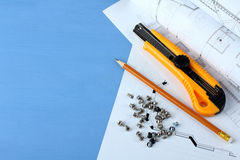 建筑锤子用工具加工视窗 库存照片