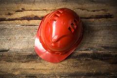建筑防护安全帽 库存照片