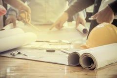 建筑项目工程师的图象 免版税库存图片