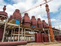 建筑结构在工厂 免版税图库摄影