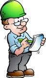 建筑经理的例证 免版税库存照片