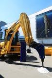 建筑黄色机器 库存照片