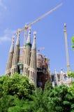 2008年建筑familia照片sagrada被采取在年之下 免版税库存照片