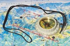 筒形的指南针 库存照片