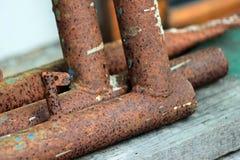 筒形钢是铁锈 免版税库存照片