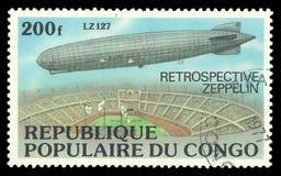 策帕林飞艇LZ 127 库存图片