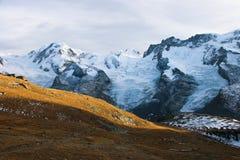 策马特惊人的秋天视图  图库摄影